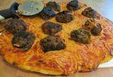 Cheesy Meatball Pizza